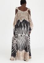 ce4cc9b15f Chiffon Longer Length Kaftan Dress Animal Print G Couture Formal ...