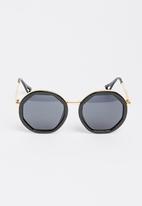 STYLE REPUBLIC - Round Sunglasses Black