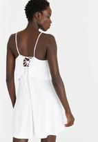 Lithe - Swim Dress with Back-tie Detail White