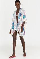 Lithe - Flower Printed Kaftan Multi-colour