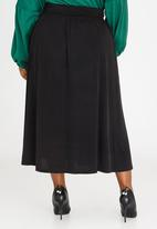 Marique Yssel - High Waisted Midi Skirt Black