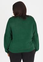 Marique Yssel - Beaded Bishop Sleeve Sweatshirt Dark Green