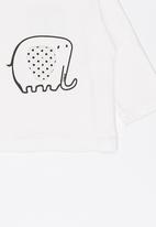 POP CANDY - Long Sleeve Printed Tee White