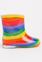 POP CANDY - Girls  Printed Rainbow  Boot Multi-colour