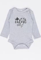 Funky Shop - Cutest catch baby grow - grey