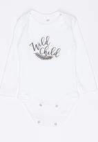 Funky Shop - Wild child baby grow - grey