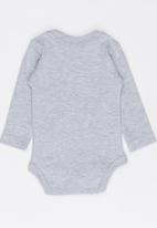 Funky Shop - Made with love baby grow - grey