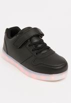 POP CANDY - Velcro strap light up sneaker - black