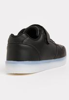 POP CANDY - Velcro strap light up sneaker - black