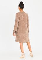 G Couture - Suede Tunic Dress Taupe
