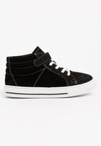 POP CANDY - Boys Hi Top Sneaker Black