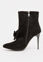 STYLE REPUBLIC - Bow Detail Boots Black