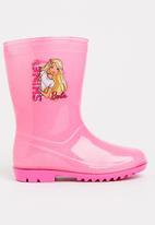 Character Fashion - Kids Barbie wellington booties - pink