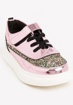 POP CANDY - Girls Metallic Sneaker Mid Pink