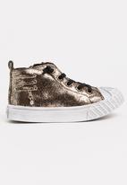 POP CANDY - Boys Metallic Sneaker Gold