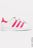 adidas Originals - Superstar foundation sneaker - white and pink
