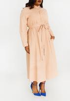 AMANDA LAIRD CHERRY - Abongile Shirt Dress Rose