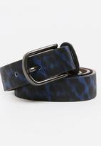 Joy Collectables - Animal Print Belt Black and Blue