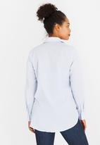 edit Maternity - Longer Length Maternity Shirt White
