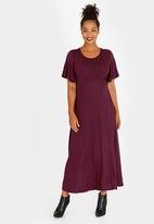 29336bd4a75 Maternity Maxi Dress with Flare Dress Burgundy edit Maternity ...
