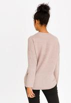 Revenge - Drop Shoulder Top Pale Pink