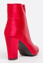 Jada - Satin Ankle Boots Dark Red