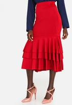edit - Flamenco Ruffle Skirt Burgundy