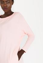 edit - Batwing Tunic Mid Pink