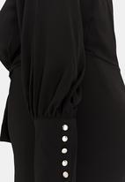 STYLE REPUBLIC PLUS - Self-tie cuffed jumpsuit - black