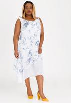 Revenge - Layered Maxi Dress Blue and White