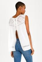 Brave Soul - Crochet Top White
