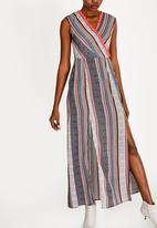 Revenge - Wrap Maxi Dress Multi-colour