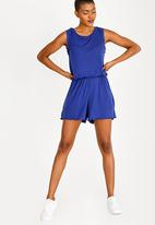 Brave Soul - Frilled Sleeve Playsuit Blue