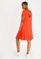 Brave Soul - Easy stretch swing dress - orange
