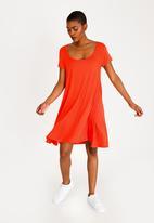 Brave Soul - Easy Stretch Swing Dress Orange