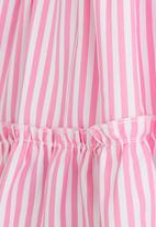 POP CANDY - Tiered Stripe Dress Pale Pink