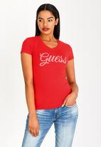 GUESS - Guess V-neck Tee Red