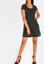 Brave Soul - Polka Dot Dress Black and White