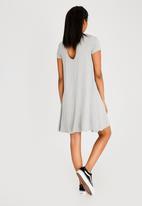 Brave Soul - Easy Stretch Swing Dress Grey Melange
