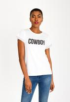GUESS - Guess Cowboy Tee White