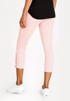 Brave Soul - Snap Detail Jeans Pale Pink