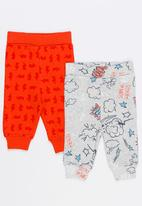Baby Corner - Printed 2 Pack Pants Red