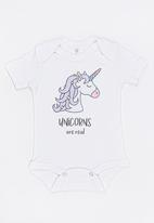 Funky Shop - Slogan Baby Grow White