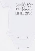 Funky Shop - Little star baby grow - white