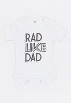 Funky Shop - Rad baby grow - white