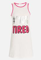 POP CANDY - Printed Pj  Vest Off White