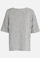 MINOTI - Utility Printed Cold Shoulder Top Grey