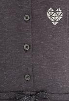 MINOTI - Super Lurex Flecks Dress Charcoal
