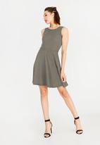 c(inch) - Fit And Flare Dress Green