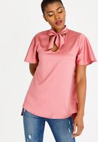 STYLE REPUBLIC - Kitty Bow Blouse Rose
